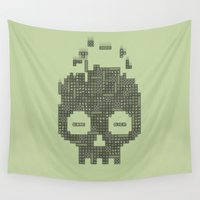 tetris Wall Tapestries featuring Dead Boy by Quick Brown Fox