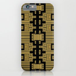 Tribal Gold Abstract Pattern iPhone Case
