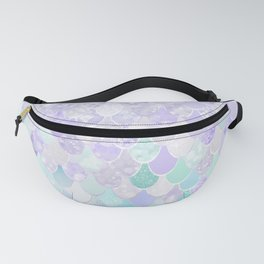 Mermaid Iridescent Purple and Teal Pattern Fanny Pack