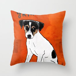 Dog: Rat Terrier Throw Pillow