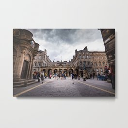 Royal Mile in Edinburgh, Scotland Metal Print