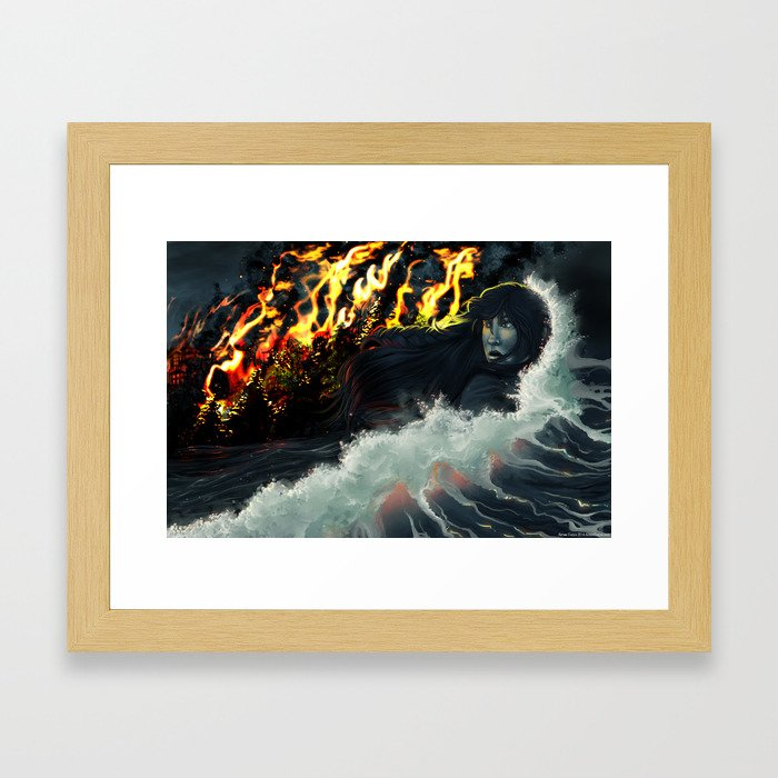 Running to the Sea Framed Art Print