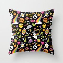 Wokeface Space Mix Throw Pillow
