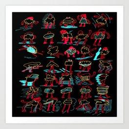 Buncha Folks Art Print