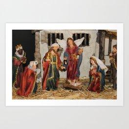 My German Traditions - Christmas Nativity Scene Art Print