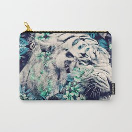 Floral Tiger Carry-All Pouch