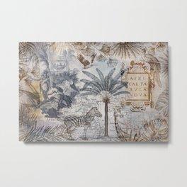 Explore Africa Collage Metal Print