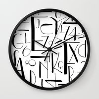 deco Wall Clocks featuring deco. by The Higgins Creative.