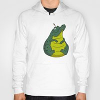 pear Hoodies featuring Alligator Pear by Chris Piascik