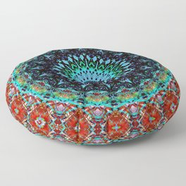 Glitch Mandala Oasis B Floor Pillow