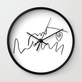 Pablo Picasso Face Looking Up Line Artwork For Prints Tshirts Posters Bags Men Women Youth Wall Clock