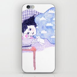 Birthday morning (with a glass of redcurrant juice) iPhone Skin