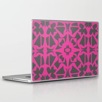 gray pattern Laptop & iPad Skins featuring Magenta Gray pattern by xiari
