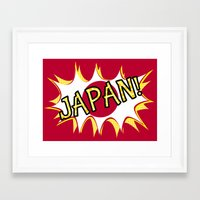 japan Framed Art Prints featuring Japan by mailboxdisco