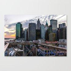 Brookly Bridge & Financial District Canvas Print