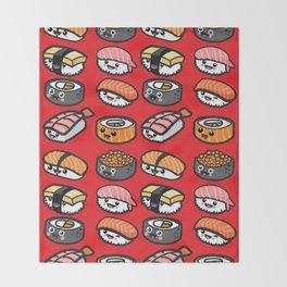 Sushi Family Throw Blanket