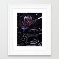 rocket raccoon Framed Art Prints featuring Rocket Raccoon  by kuri