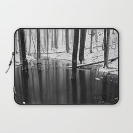 Snowing on water Laptop Sleeve