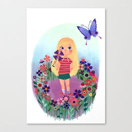 Uni the Unicorn: The Little Girl Canvas Print