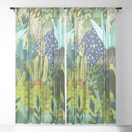 Wild Jungle || #illustration #painting Sheer Curtain