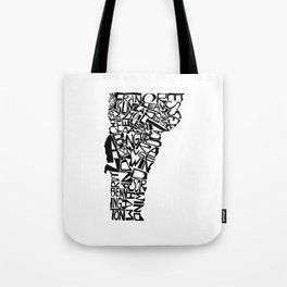 Typographic Vermont Tote Bag