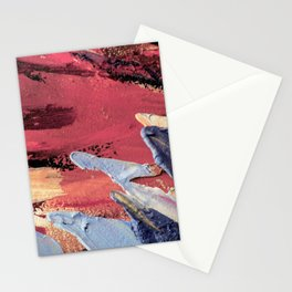 Blue on Pink Stationery Cards