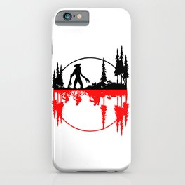 Stay Strange black and red iPhone Case