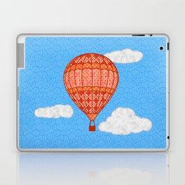 Hot Air Balloon, Coral Orange Against a Blue Sky Laptop & iPad Skin