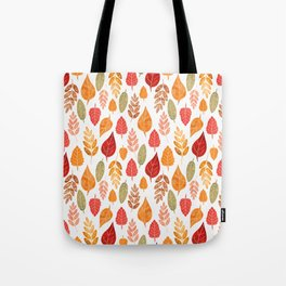 Painted Autumn Leaves Pattern Tote Bag