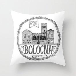 Palazzo Re Enzi, Bologna Throw Pillow