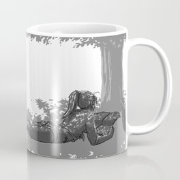 Fille sous un arbre Coffee Mug