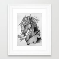 knight Framed Art Prints featuring The King's Lost Knight by Caitlin Hackett