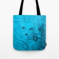 frozen elsa Tote Bags featuring Frozen Elsa by ALynnArts