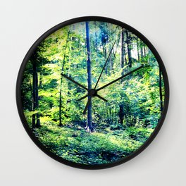 one summer day in the forest Wall Clock