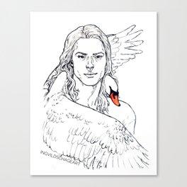 Swan Embrace Canvas Print