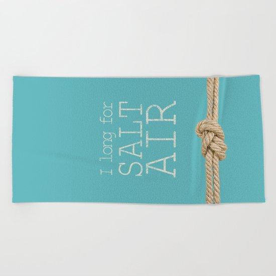 Beach Series Aqua - Beach Saying on turquoise background 2 on #Society6 Beach Towel
