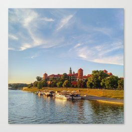 Magical Wawel Castle in Krakow - view from the bridge Canvas Print