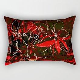 Weiße Blüten Rectangular Pillow