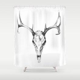 Deer Skull in Pencil Shower Curtain