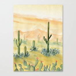Desert Sunset Landscape Canvas Print