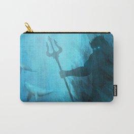 Scuba Diver meets Poseidon  Carry-All Pouch