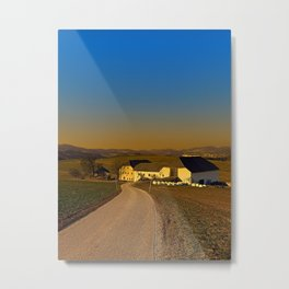 Country road, scenery and sunset | landscape photography Metal Print