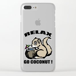 Relax! Go Coconut Clear iPhone Case