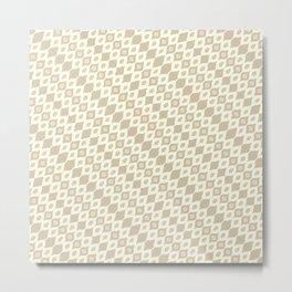 leaf diamond bamboo Metal Print