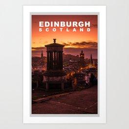 The City of Edinburgh, Scotland Art Print