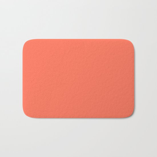 Simply Deep Coral Bath Mat
