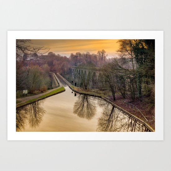 Chirk Aqueduct Art Print
