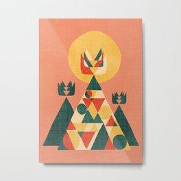 Sunset Tipi Metal Print