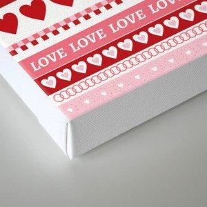 Valentine's Day - Love Pattern Canvas Print