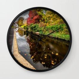 Canal Path Autumn Wall Clock